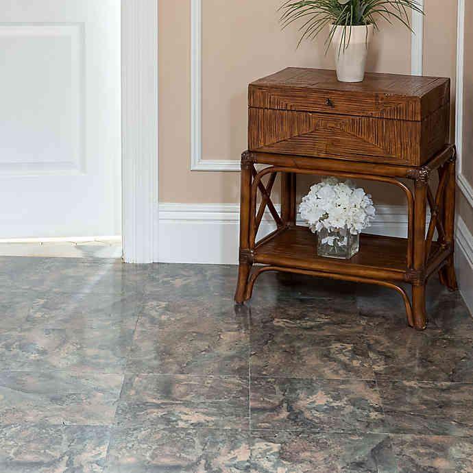 Achim Nexus 20 Pack 12 Inch Dark Slate Marble Floor Tiles In Grey In 2020 Marble Tile Floor Tile Floor Slate Tile Floor