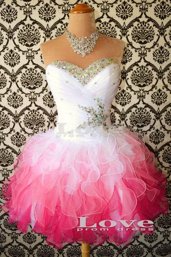 Cheap Aline Strapless Prom Dresses Short by LovePromDress on Etsy, $158.99