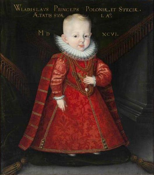 Portrait of Władysław Vasa (1595-1648), son of King Sigismund III of Poland .