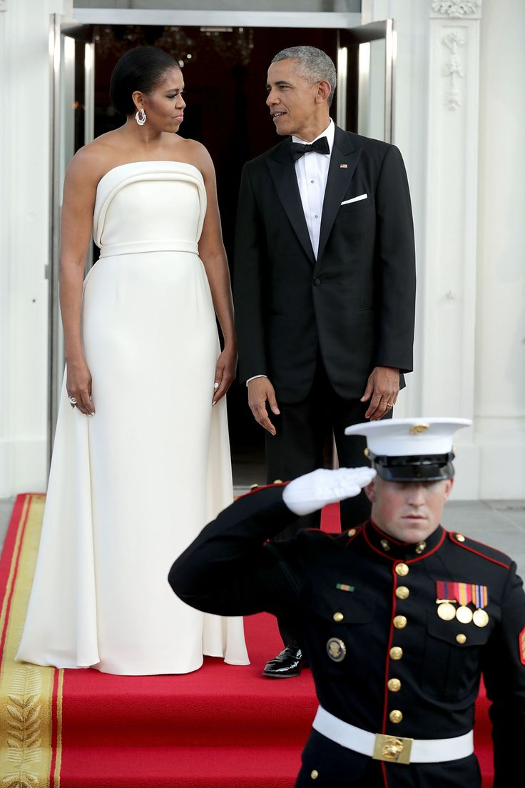 You have to see the back of michelle obama s gorgeous state dinner dress