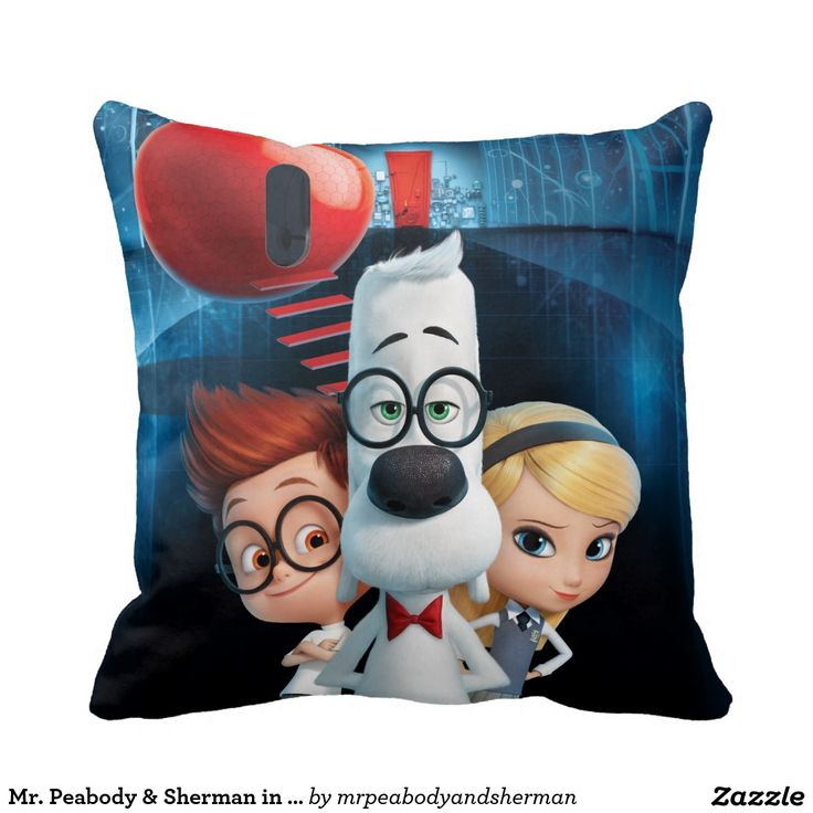 Mr Peabody Sherman In The Wabac Room Throw Pillow