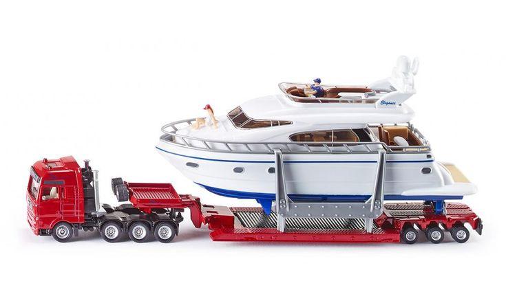 Schwertransport mit Yacht - Transport / Beladung - SIKU SUPER