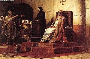 Charles-III-le-Gros-roi-de-france- 32) CHRLES III LE GROS. 3. Union et descendance: Avec RICHARDE DE SOUABE, fille d'un certain comte du palais ERCHANGER, il n'a pas d'enfant. Toutefois, il est le père de BERNARD DE GERMANIE (+891) qu'il a eu d'une concubine de basse extraction et qu'il a tenté de faire légitimer, sans succès devant l'opposition des évêques.