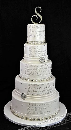 Crystal wedding cake......WITH VOWS HOW UNIQUE!!!!