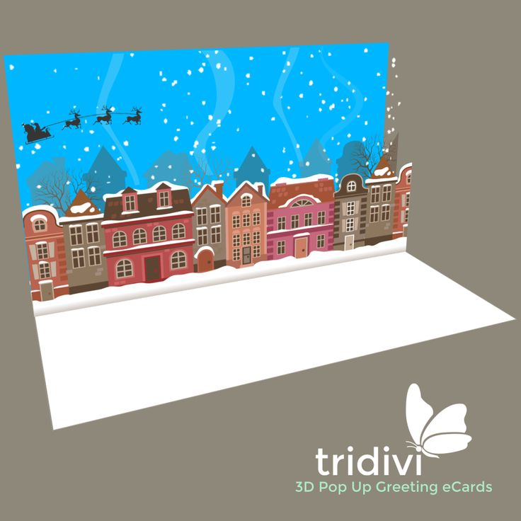 Send free Christmas eCards with tridivi™. Use one from our collection of 3D Pop Up Christmas eCards or make your own with our easy to use ecard maker!