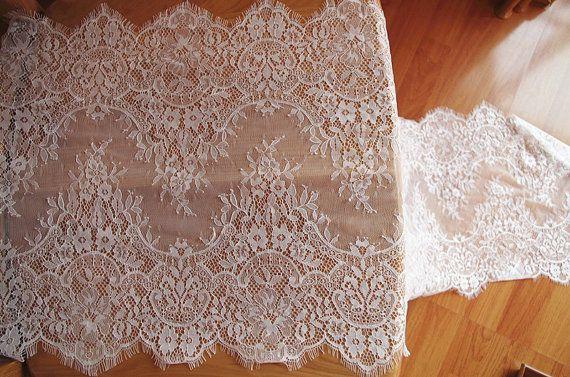 chantilly lace trim ivory eyelash lace trim bridal lace trim