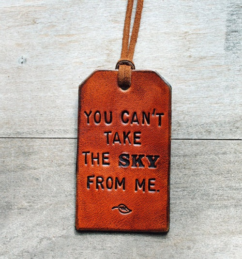 firefly leather luggage tag from etsy #firefly #gift #etsy