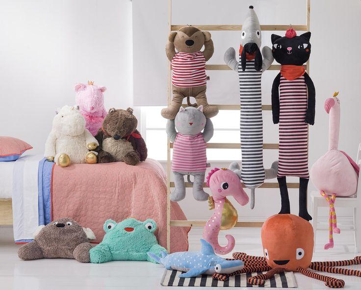 Los cojines más divertidos para el #dormitorio de los niños.