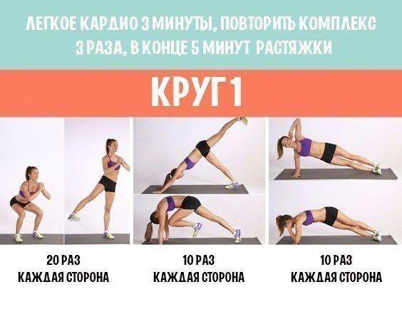 Круговая тренировка для подтянутого тела 👌