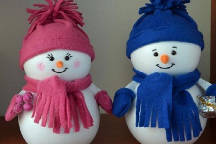 Monsieur et Madame bonhomme de neige!