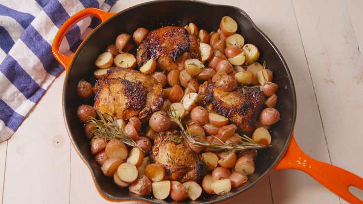 Balsamic Glazed Chicken and Potatoes. This sweet, tangy chicken is the perfect weeknight dinner.