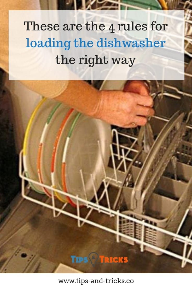 These Are The 4 Rules For Loading The Dishwasher The Right Way