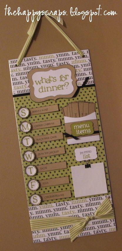 Magnetic Menu Board at The Happy Scraps