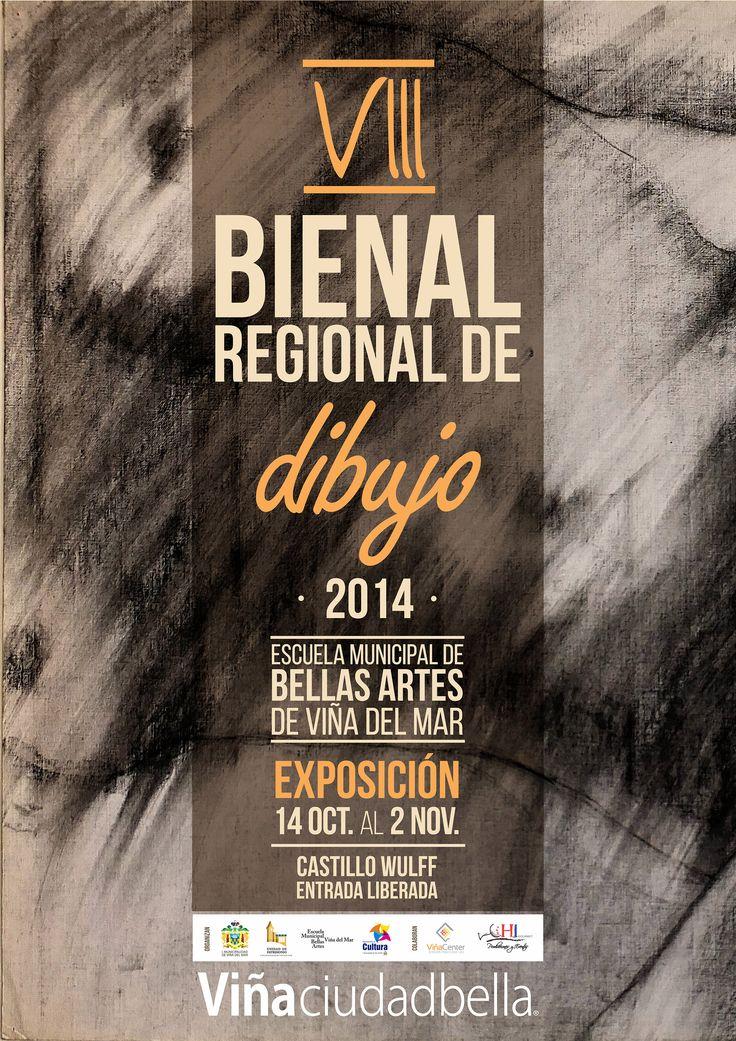 VIII Bienal Regional de Dibujo exhibe creaciones de 17 artistas en Castillo Wulff Viña