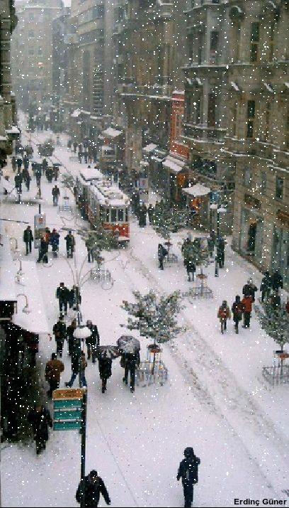 Snow City It looks like a scene from Alistair Sim's Christmas Carol.