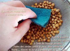 Comment nettoyer les noyaux de cerises pour préparer des coussins et bouillottes.