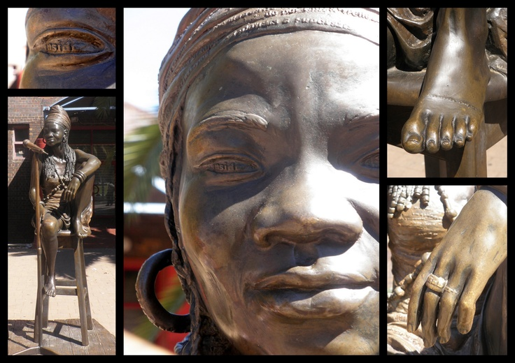 Brenda Fassie Sculpture outside Bassline in Newtown, Johannesburg