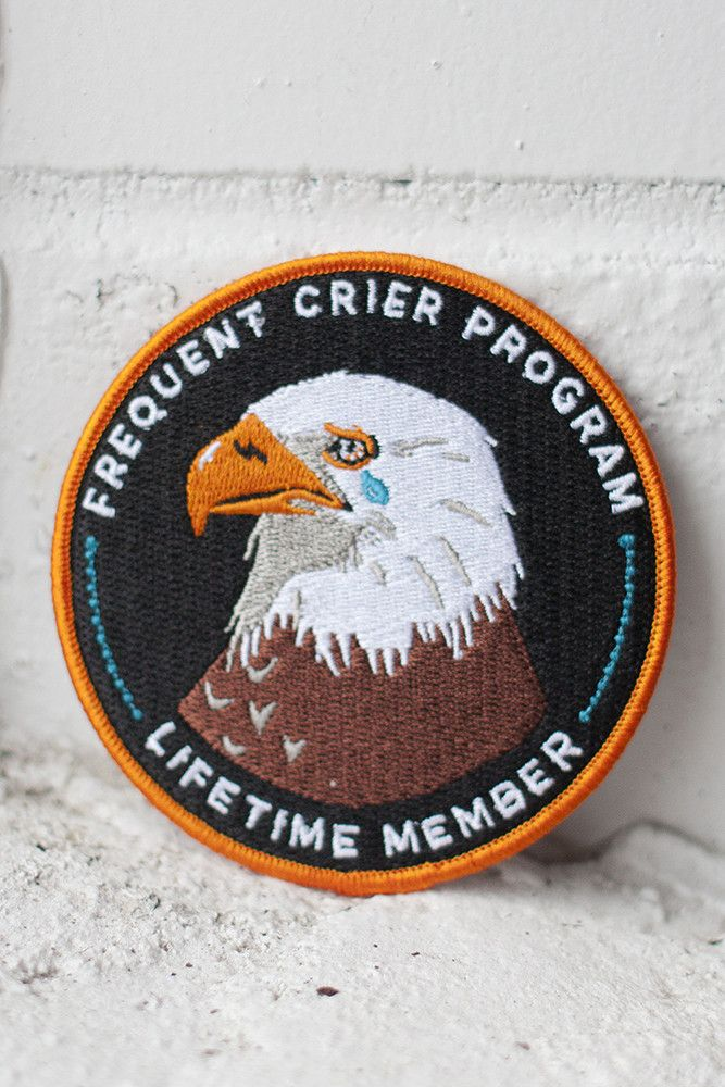 Frequent Crier iron-on patch - stay at home club