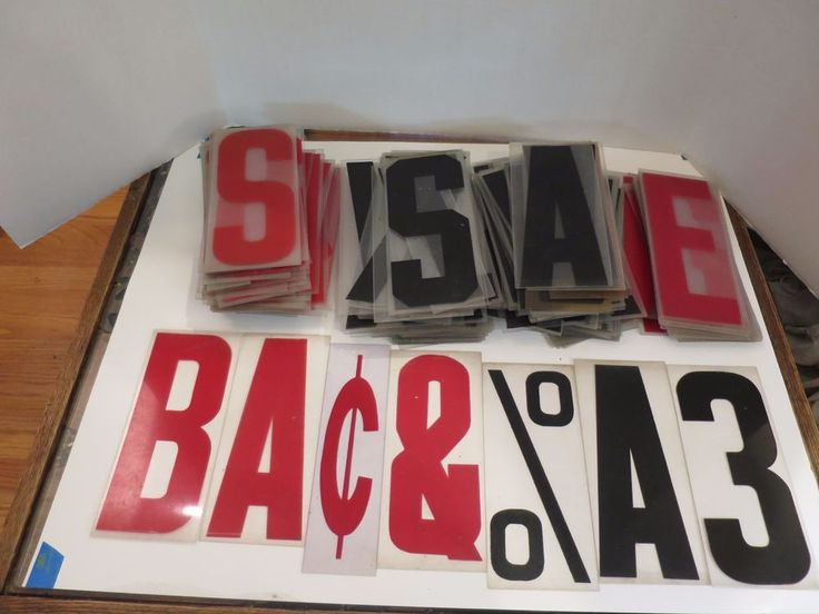 Plastic Sign Letters Numbers Vintage Lot Of 286 8 Inches