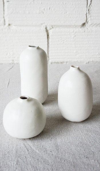Judy Jackson Vase White