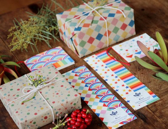 Carnival Set Of Gift Wrap Cards And Bookmarks In by naturewrap, $17.00