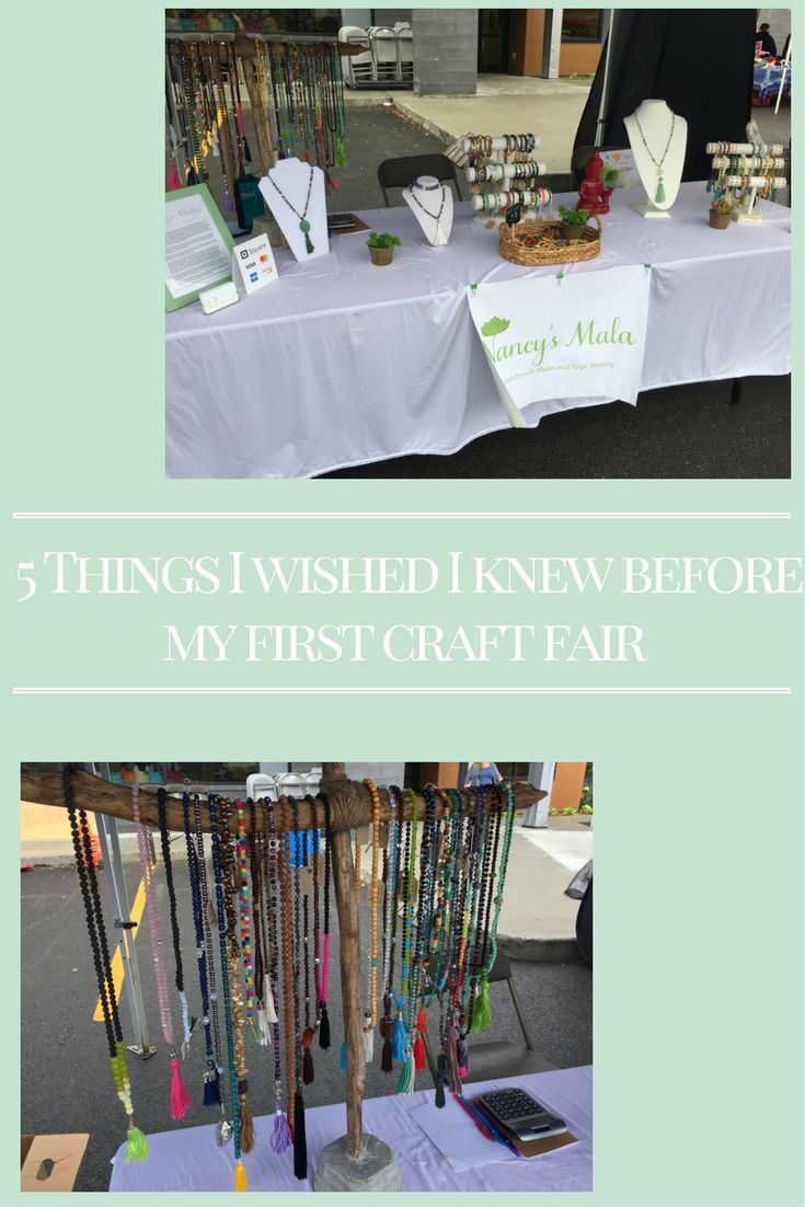 5 things I wished I knew before my first craft fair