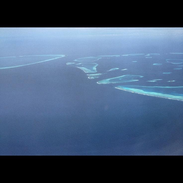 Maldives atoll.