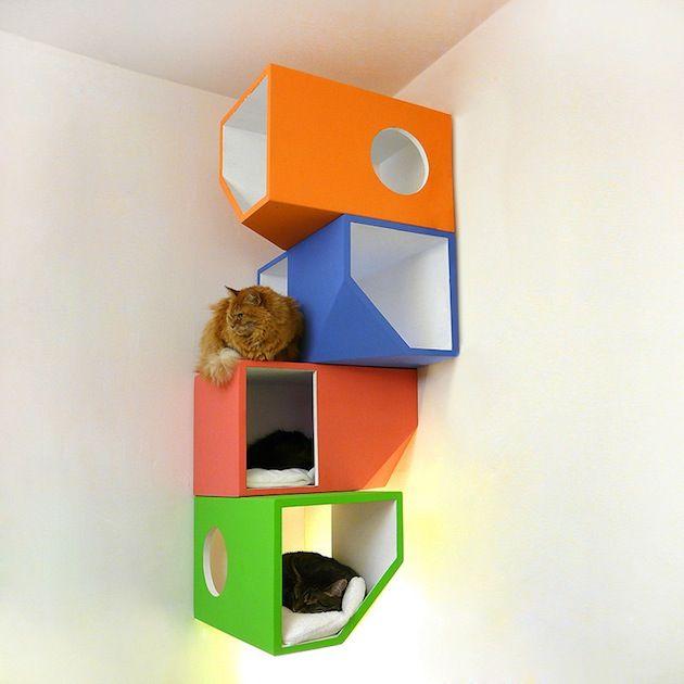 Modern Wall Mounted Cat Tree Catissa (4)