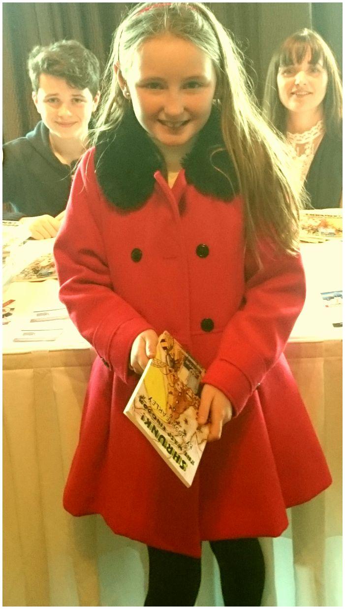 Book Hub Publishing Author, Orla McCann at the launch of fellow Book Hub Publishing Author, Josh Earley in Athlone, Ireland. November 2015.