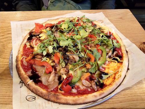 Custom Pizza At Blaze Pizza State St In Chicago Custom Pizza Pizza Vegan Friendly Restaurants