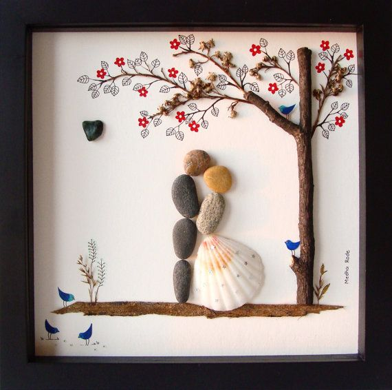 Unique WEDDING Gift-Customized Wedding Gift-Pebble von MedhaRode