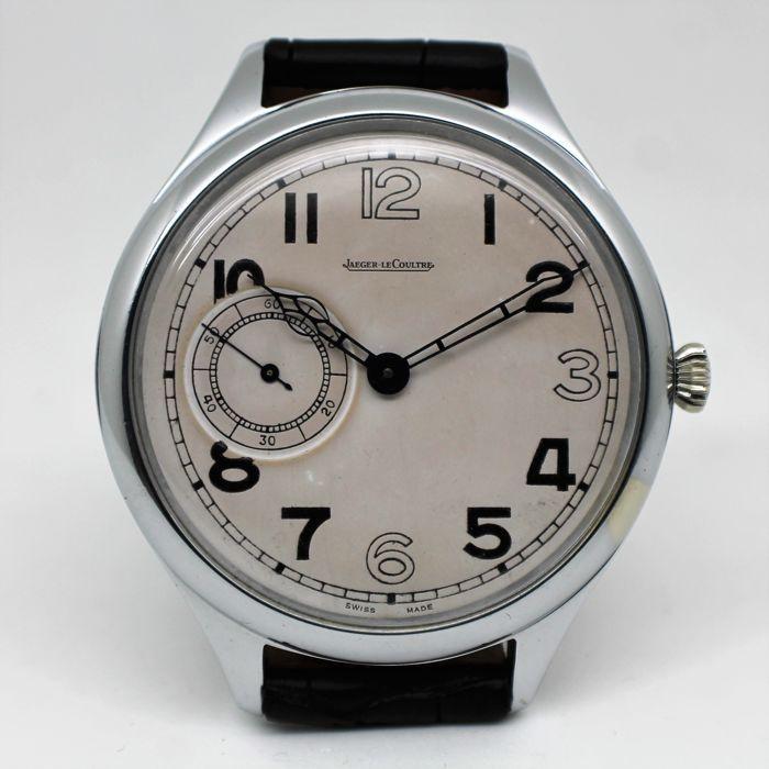 """Jaeger-Le-Coultre Britse RAF 1943 - 51mm - mannen horloge - 1943  """"Dit horloge behoorde toe aan een lid van de Royal Air Force""""Dit is een horloge WW2 RAF waarnemer/Navigator.6e/50 is de woordenschat apparatuurcode ontleend aan de Royal Air Force 1086;6e is de sectiecode voor het vliegtuig instrumenten en 50 is het serienummer.Merk: Jaeger-LeCoultreModel: Britse RAF 1943Referentie: 6E/50Movement: Mechanical hand-wondKaliber: 467/2Case: Verchroomd metaalKast conditie: nieuwCase diameter: 51mm…"""