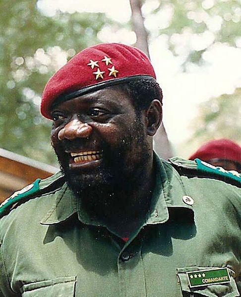 Jonas Savimbi. Militar angoleño creador de UNITA.
