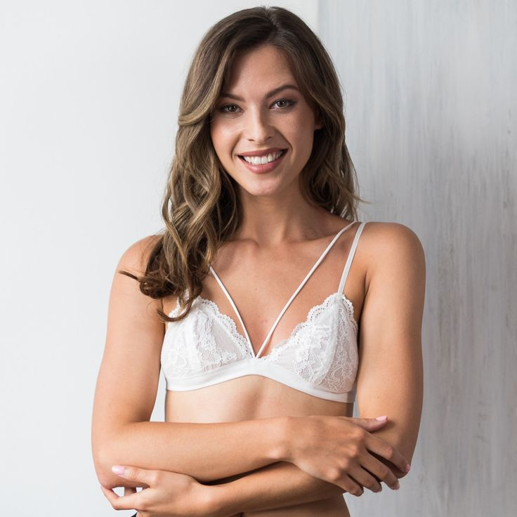 Deep V Strappy Bralette With Lace Products Pinterest