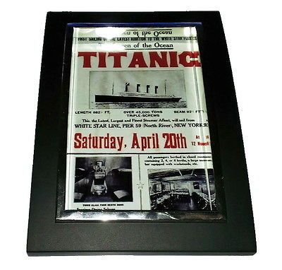 Mini Titanic Poster Nice Framed Art Print Display Memorabilia Man Cave
