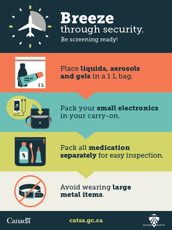 Breeze through airport security this summer with these tips from the Canadian Air Transport Security Authority (CATSA)...