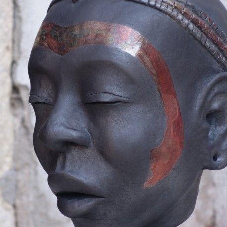 Testa di ragazza masai - Andrea da Tos