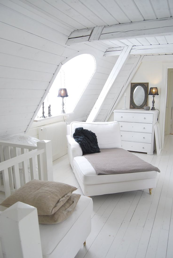 ...what a beautiful, airy, attic space...