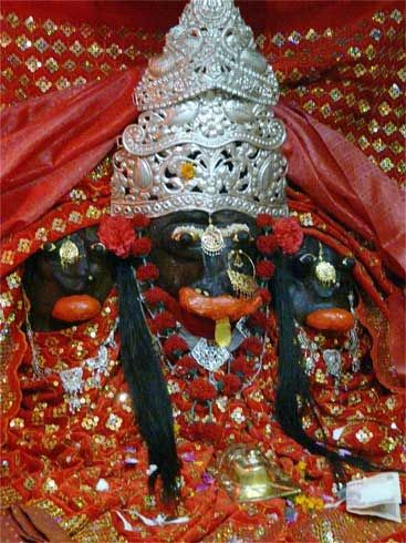 Tarna Devi temple on top of the hill called Tarna which is a landmark in the town and which can be reached by a flight of steps from the market itself. She is also known as Shyama Kali or the black Kali.