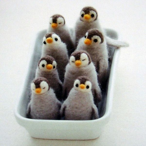 basteln pinguine filz bastelvorlagen filzen ideen filz pinterest felting and needle felting. Black Bedroom Furniture Sets. Home Design Ideas