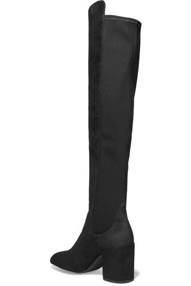 Stuart Weitzman - Halftime Suede And Stretch Over-the-knee Boots - Black - IT35.5