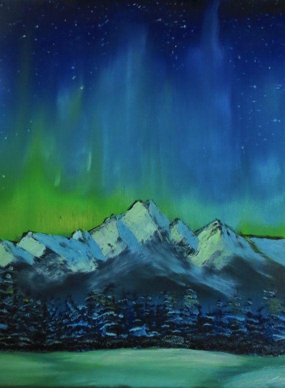 Winter Celebration Green Northern Lights Aurora
