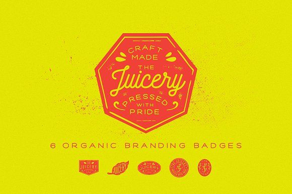 Organic Branding Badges by Union Dues Design Co. on @creativemarket