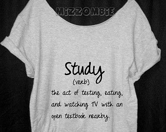 HOMEWORK shirt, Off The Shoulder, Over sized, loose fitting, graphic tee women's, teens. SCHOOL college homework