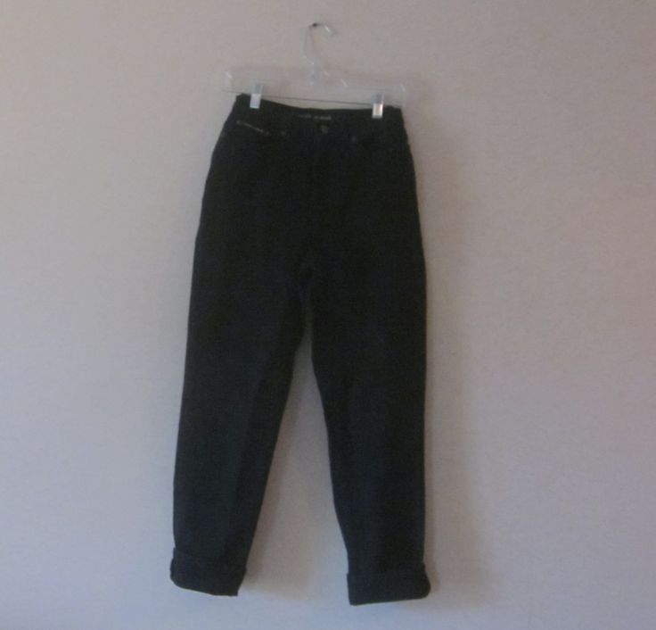 High Waisted Black Jeans.Vintage Black Jeans, Mom Jeans, DKNY Jeans, Very High Waist 27, Womens Teens Size 4 Hipster Grunge, Black Denim by GroovyGirlGarb on Etsy