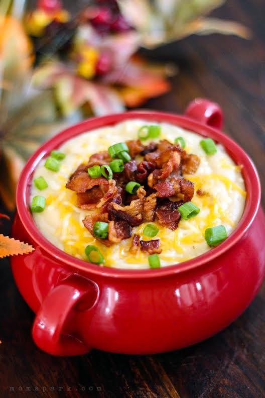 Slow Cooker Loaded Potato Soup Recipe