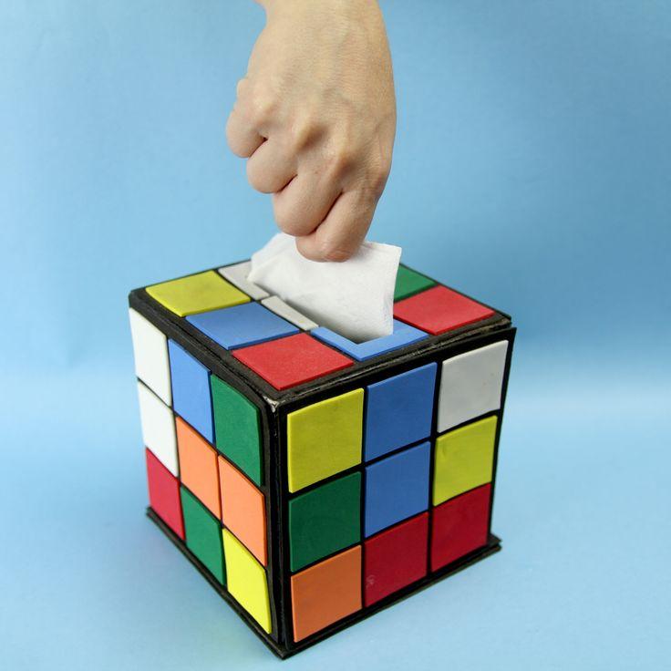 Faça você mesmo um cubo mágico porta Papel Higiênico, inspirado no cubo do Sheldon da série The Big Bang Theory