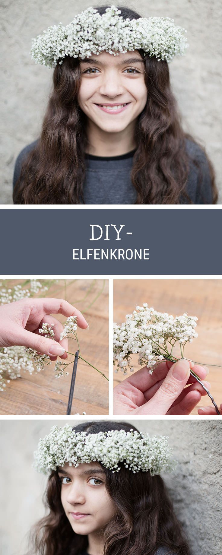 Inspiration für Haare: Blumenkranz flechten, Sommer-DIY / hair inspiration: how to make a floral wreath via DaWanda.com