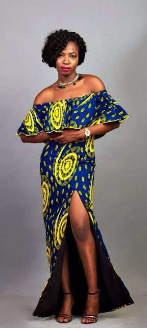 Online Hub For Fashion Beauty And Health: Dazzling Off Shoulder Ankara Gown For The Elegant ...