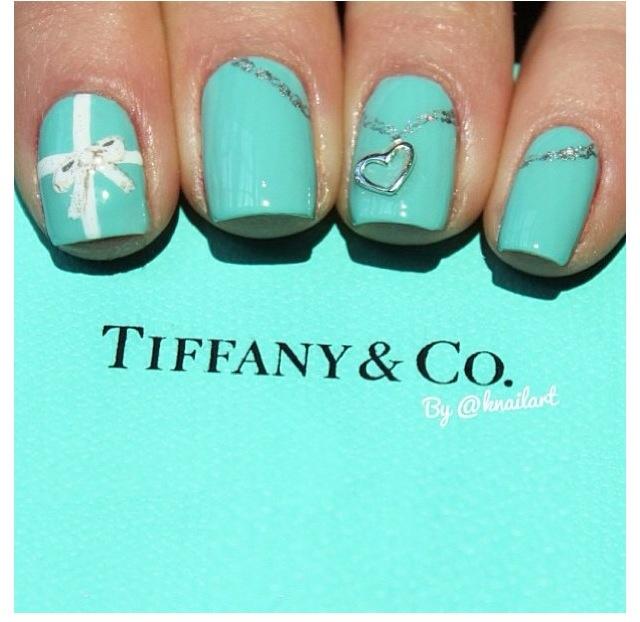 Tiffany Blue Nail Art: Tiffany Blue Nails